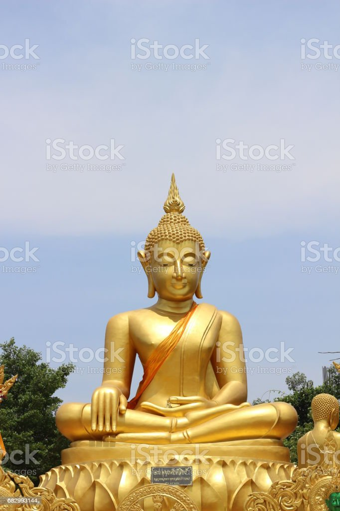 Golden buddha statue foto de stock royalty-free