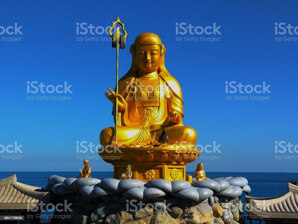 Golden Buddha statue royalty-free stock photo