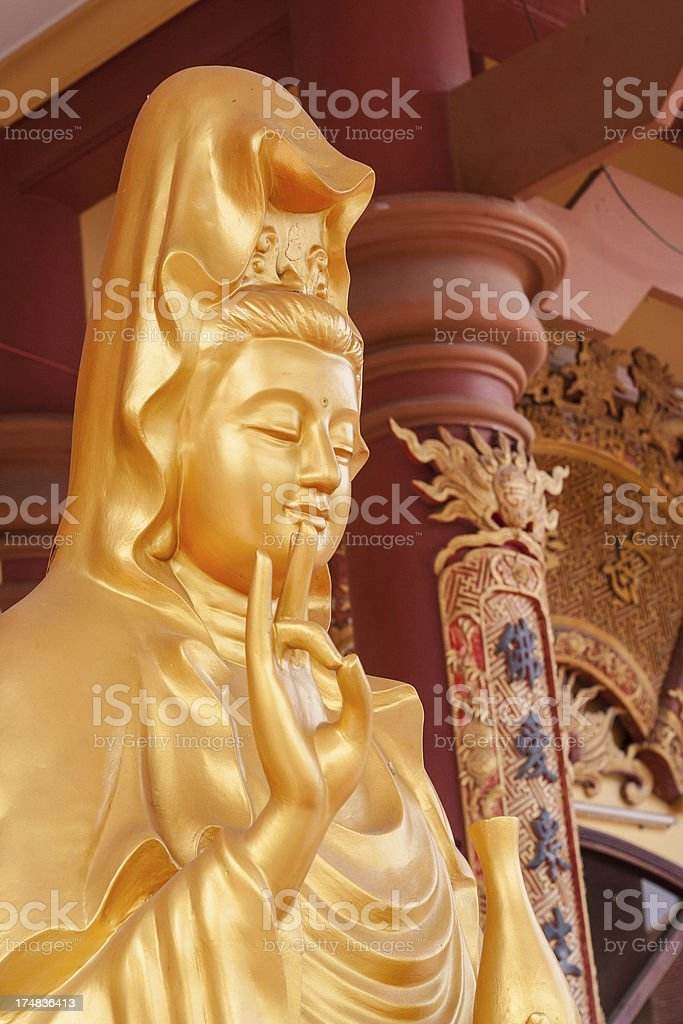 Golden Buddha Statue, Vietnam royalty-free stock photo