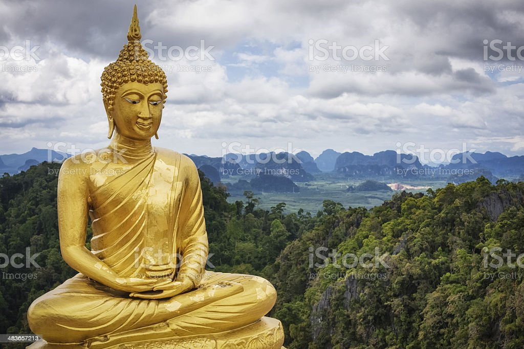 Golden Buddha - Tiger Cave Temple / Thailand stock photo