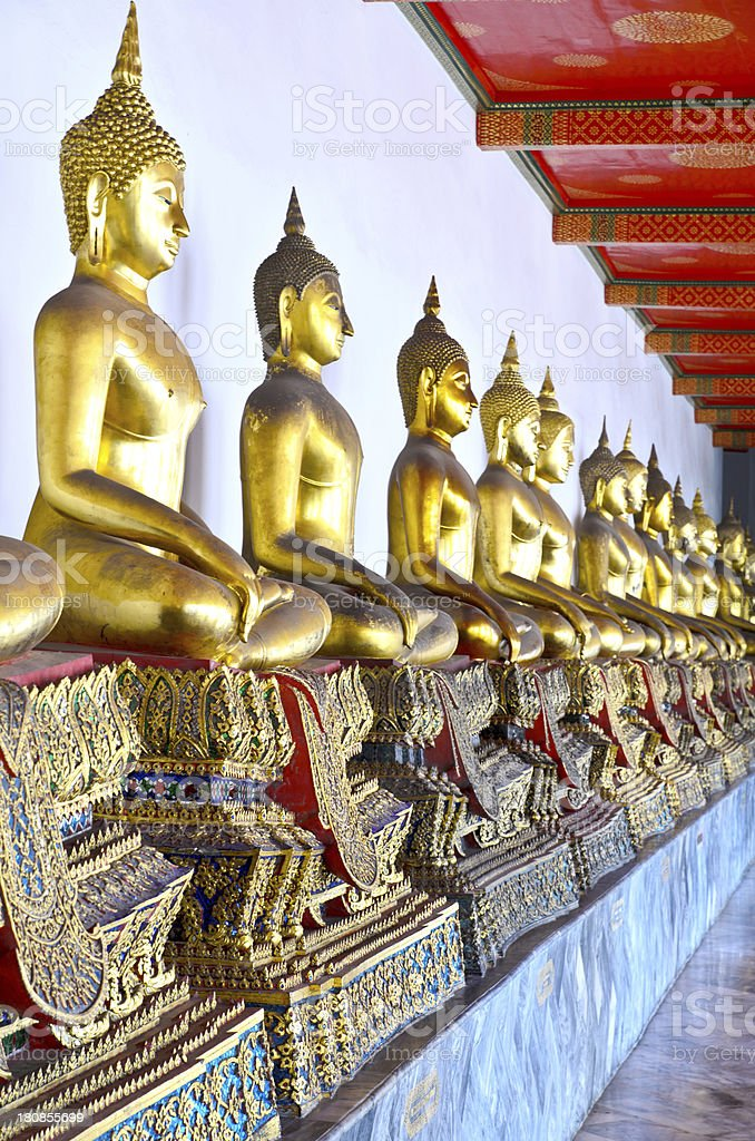 Golden Buddha, Wat Pho royalty-free stock photo
