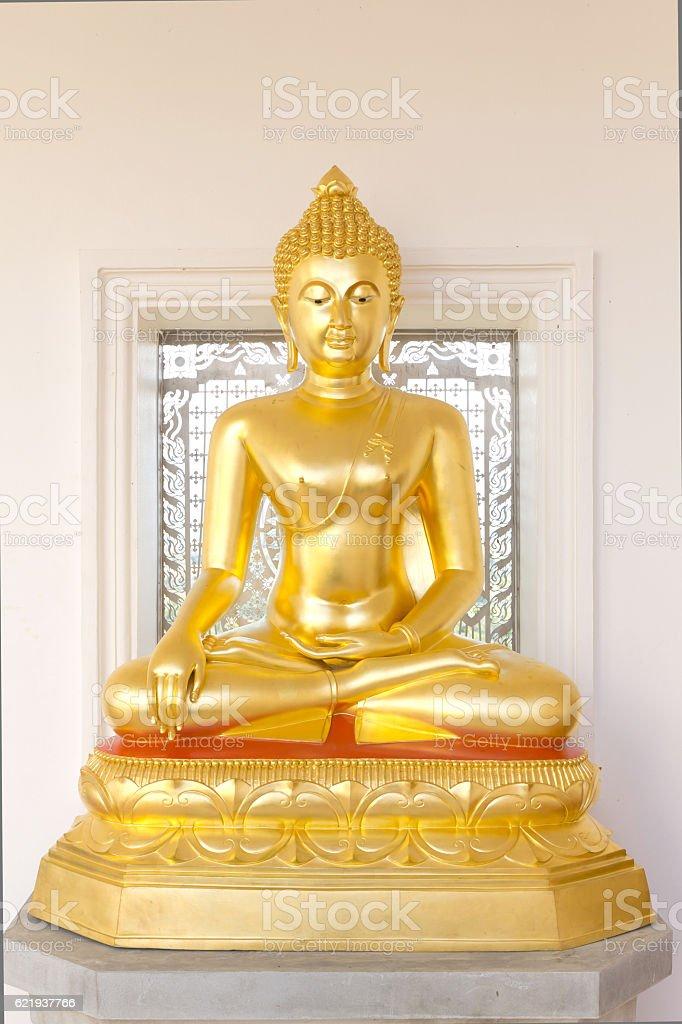 Golden buddhas image stock photo