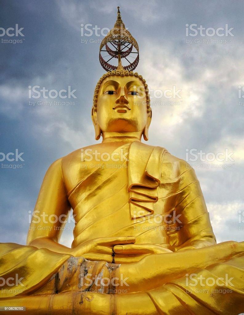 Golden Buddha,Tiger Kingdom,Thailand stock photo