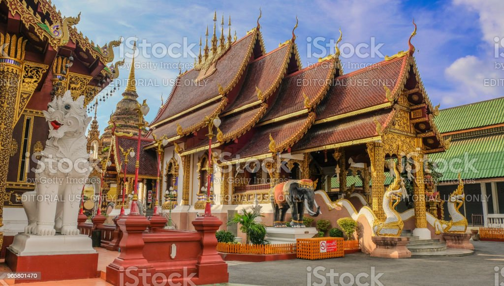 Gouden boeddhistische tempel - Royalty-free Antiek - Toestand Stockfoto