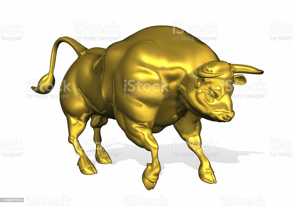 Golden Bull royalty-free stock photo