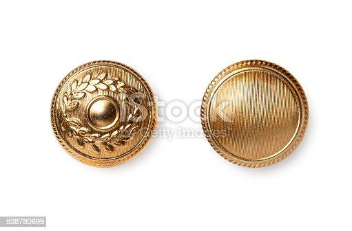 Golden buttons.