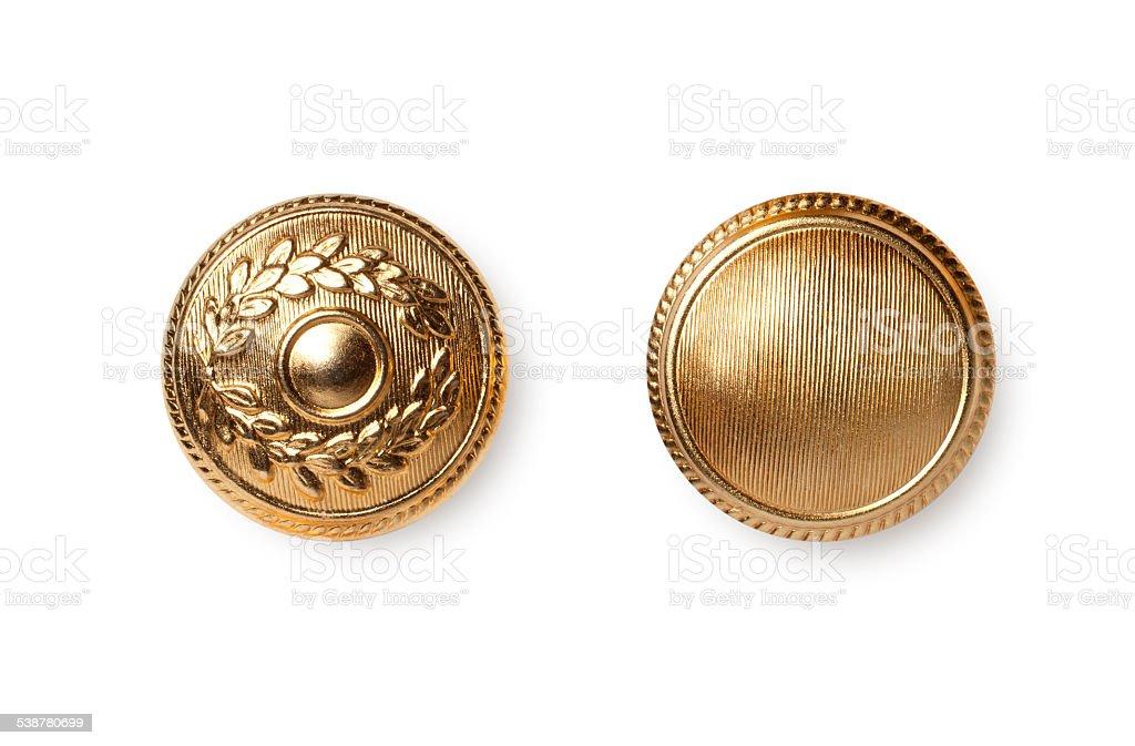 Botones de oro - foto de stock