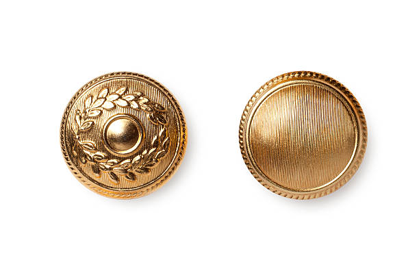 Golden buttons stock photo