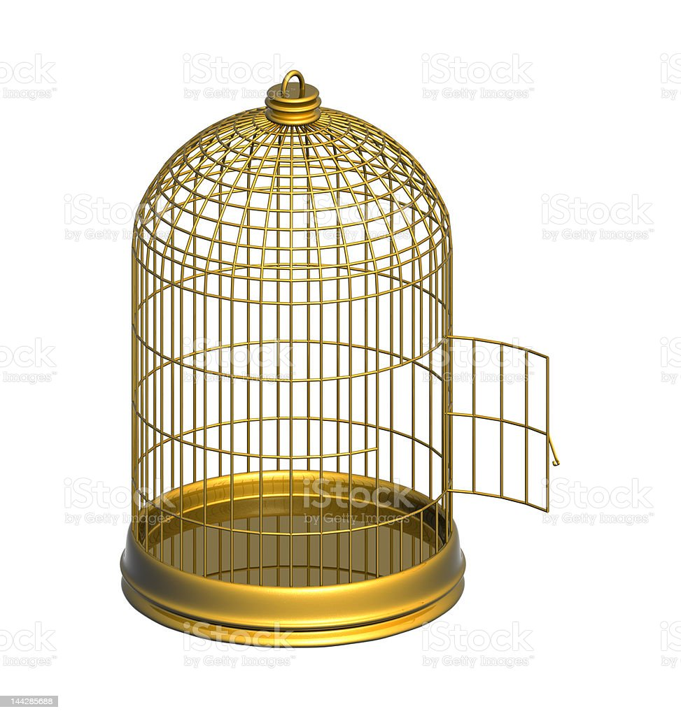 Golden Cage royalty-free stock photo