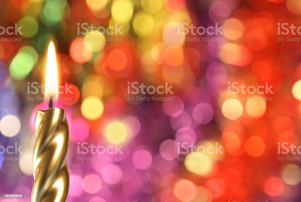 golden candle royalty-free stock photo