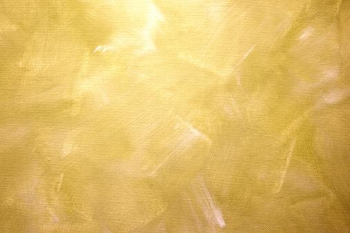 Gold Oilpaint paintbrush strokes  on canvas