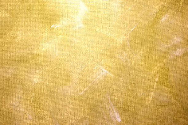 Golden Canvas detail Gold Oilpaint paintbrush strokes  on canvas brush stroke stock pictures, royalty-free photos & images