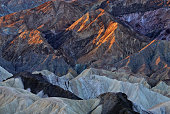 Landscape at sunrise, Golden Canyon from Zabriskie Overlook, Death Valley National Park, California, USA