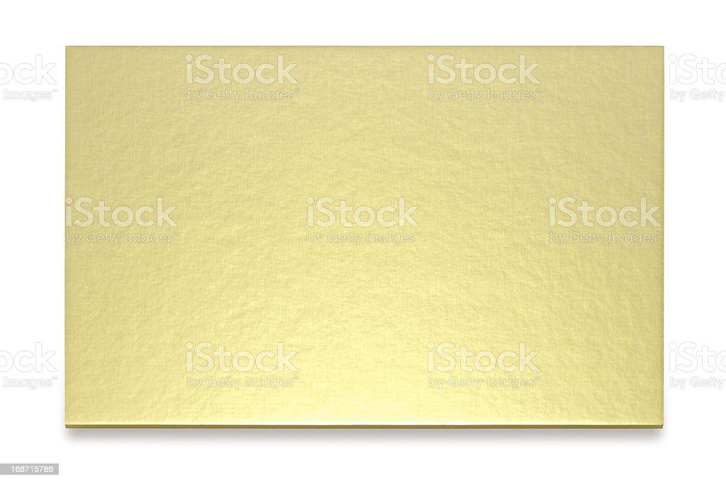 Golden card stock photo