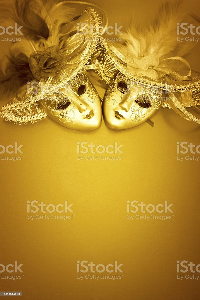 Golden Carnival Background stock photo
