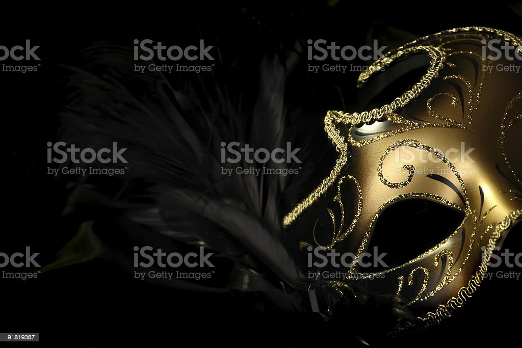 Golden Carnival Mask stock photo