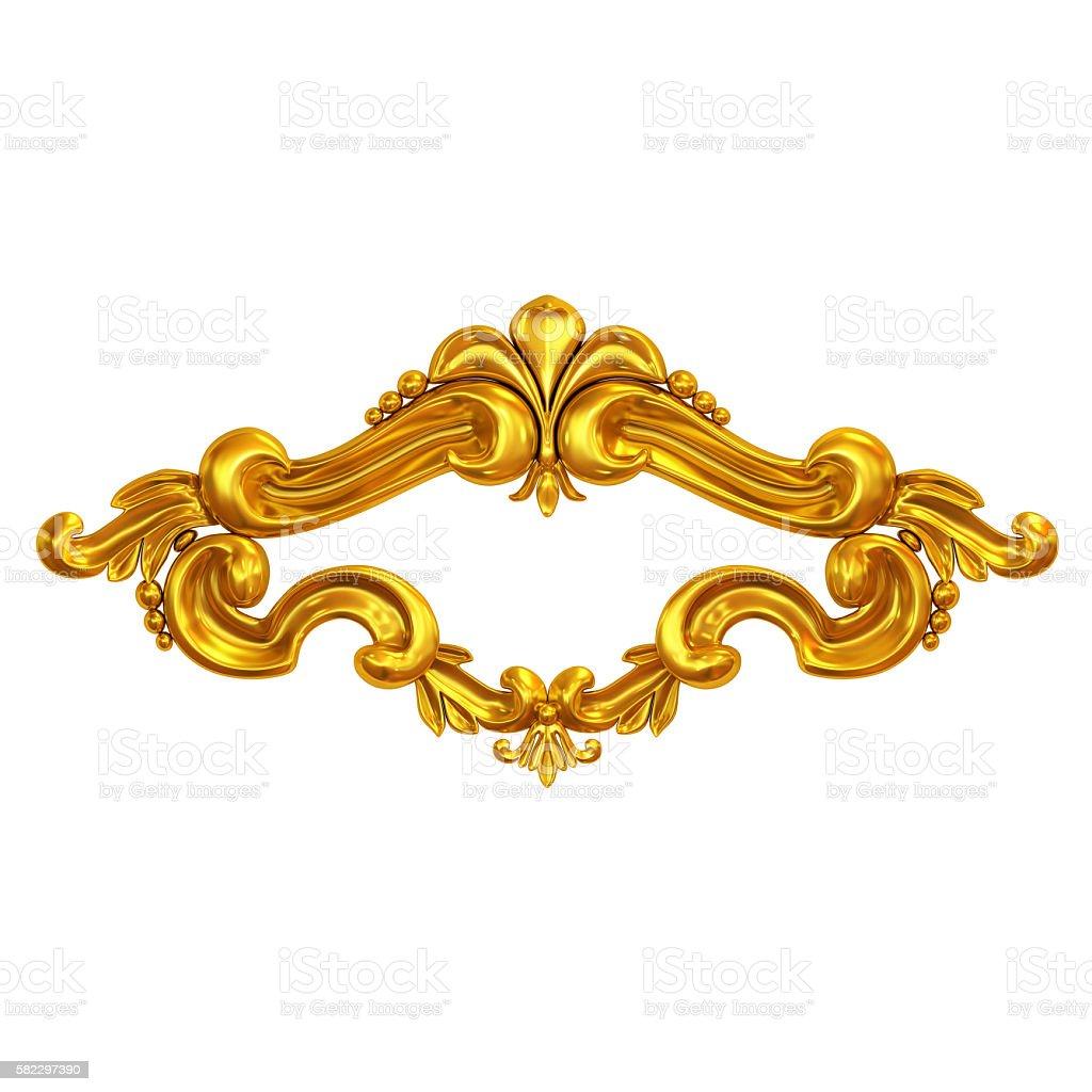 golden cartouche stock photo