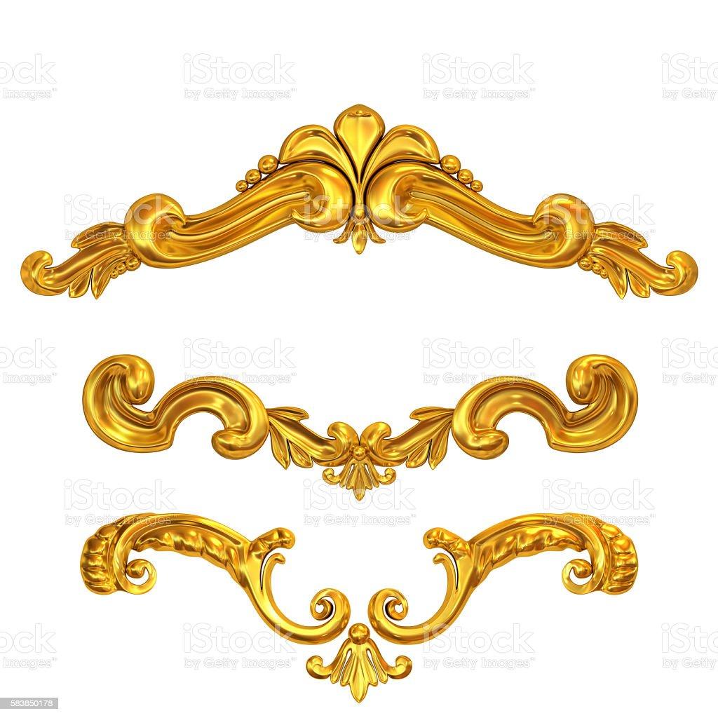 golden cartouches set stock photo
