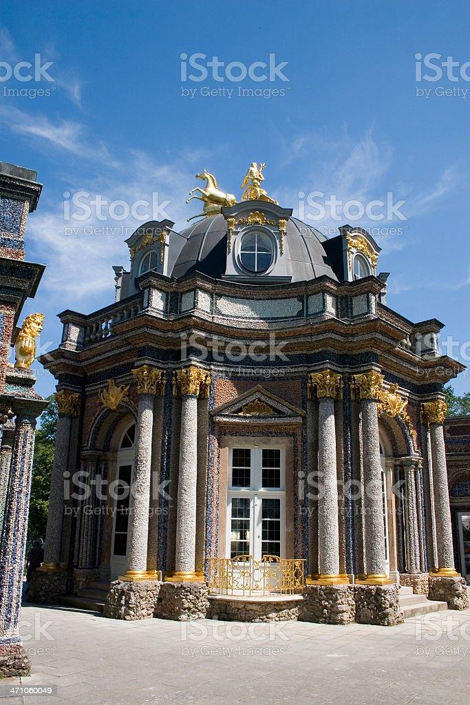 Golden Castle stock photo