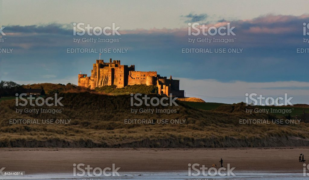 Golden castle stock photo