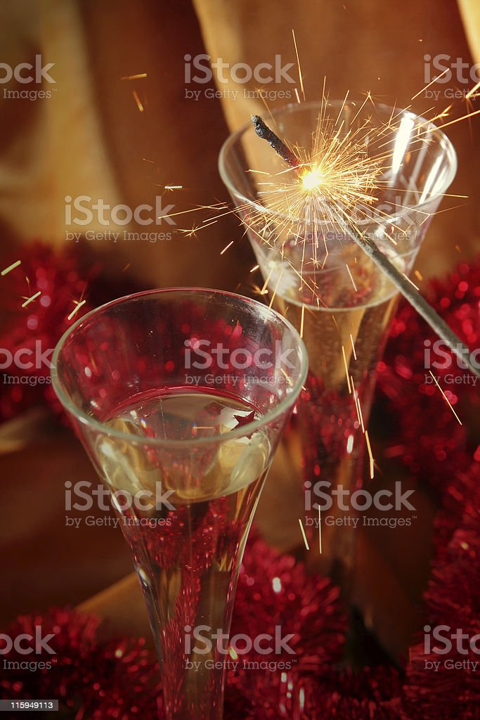 Golden celebration royalty-free stock photo