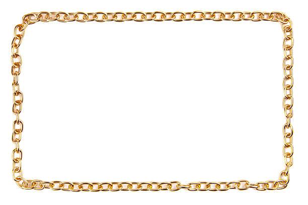 Goldene Kette als frame – Foto