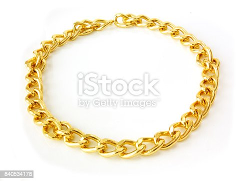 golden chain isolated on white back