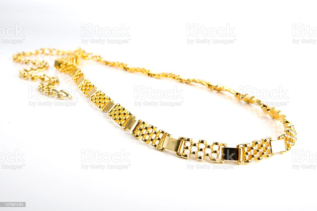 Golden chain royalty-free stock photo