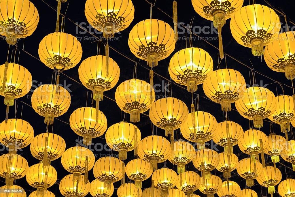 Golden Chinese lanterns – Foto