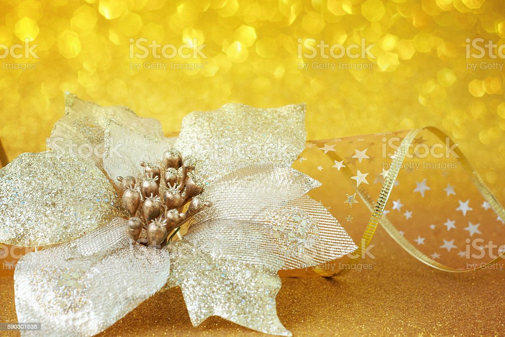 Golden Christmas background royaltyfri bildbanksbilder