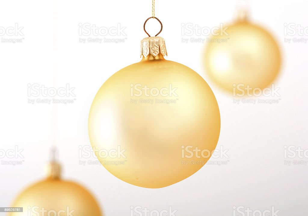 Golden christmas balls royalty-free stock photo
