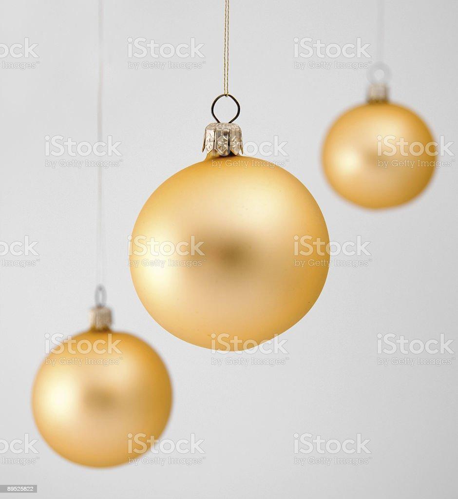 Golden christmas balls royalty-free stock photo