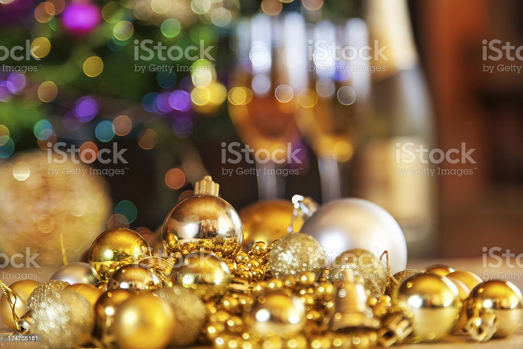 Golden Christmas royalty-free stock photo