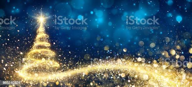 Golden christmas tree in abstract night picture id865140324?b=1&k=6&m=865140324&s=612x612&h=vzabtlgfr4dexviceumq9op r8xaj7z7yqiz cwj48u=