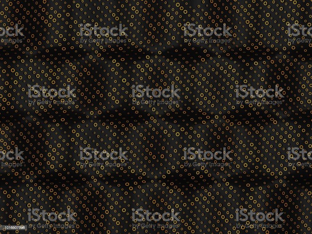 Círculos dorados sobre fondo negro golpea. Gran resolución - foto de stock
