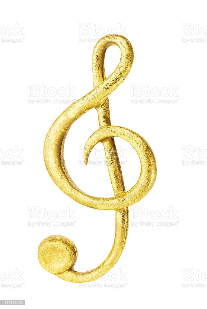 Golden clef royalty-free stock photo