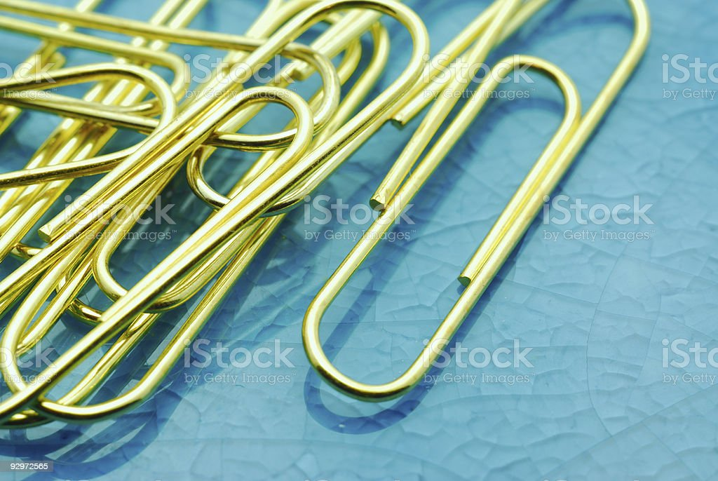 Golden clips royalty-free stock photo