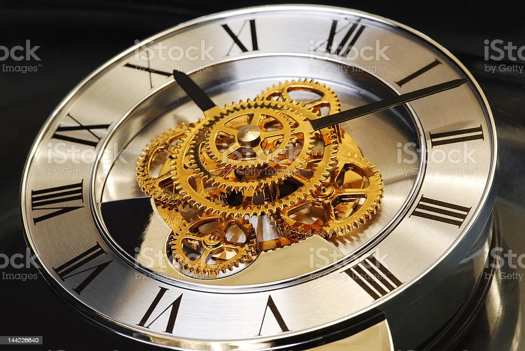 Golden Clock royalty-free stock photo