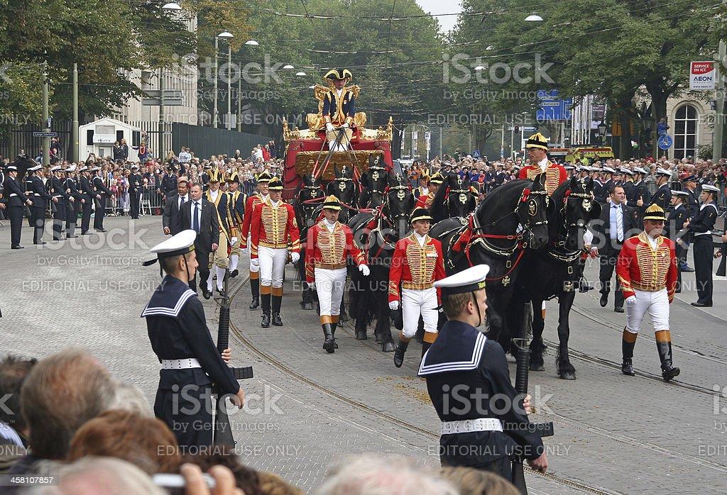 Golden Coach, Holland stock photo