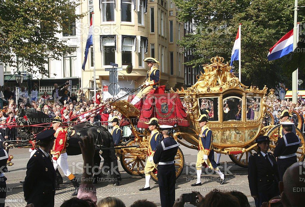 Golden Coach Holland stock photo