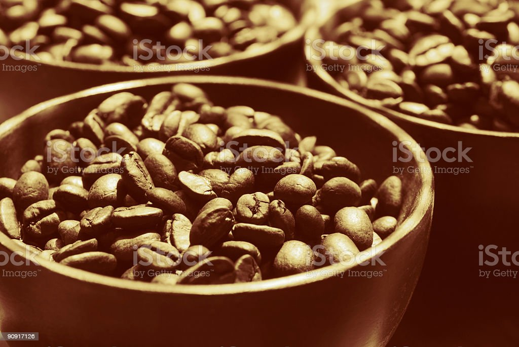 Golden Coffee Beans royalty-free stock photo