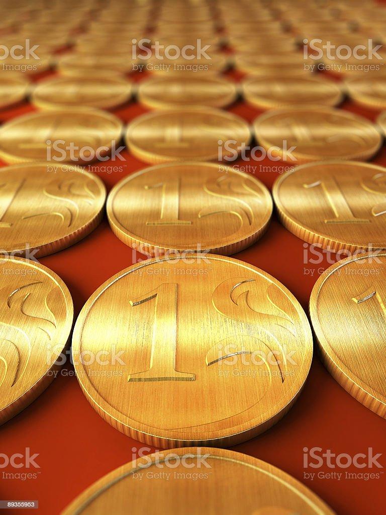 Złota monety zbiór zdjęć royalty-free