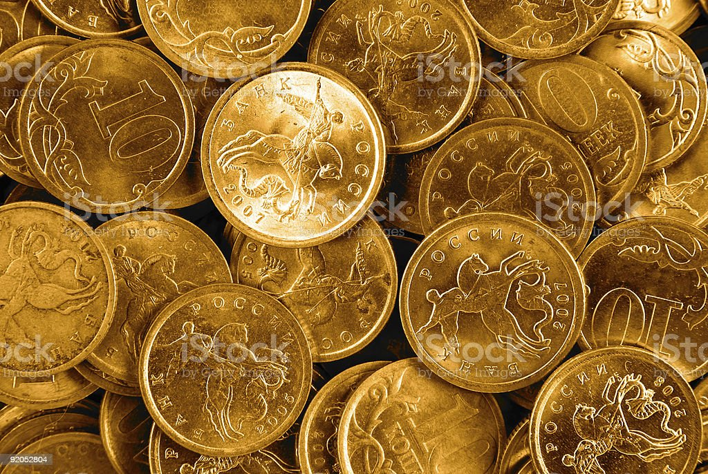 golden coins royalty-free stock photo