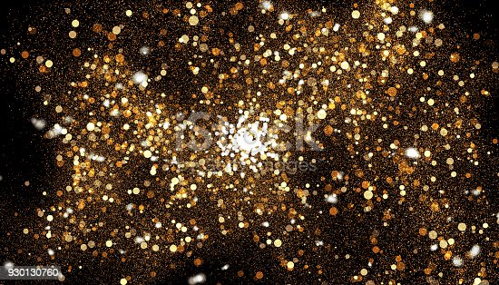 857847778 istock photo Golden color abstract glitter texture background for holidays 930130760