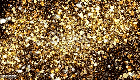 857847778 istock photo Golden color abstract glitter texture background for holidays 930135036