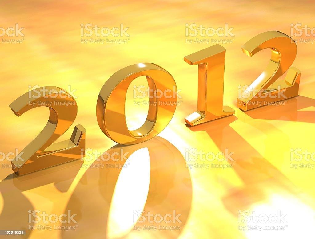 Golden Color new year design art stock photo