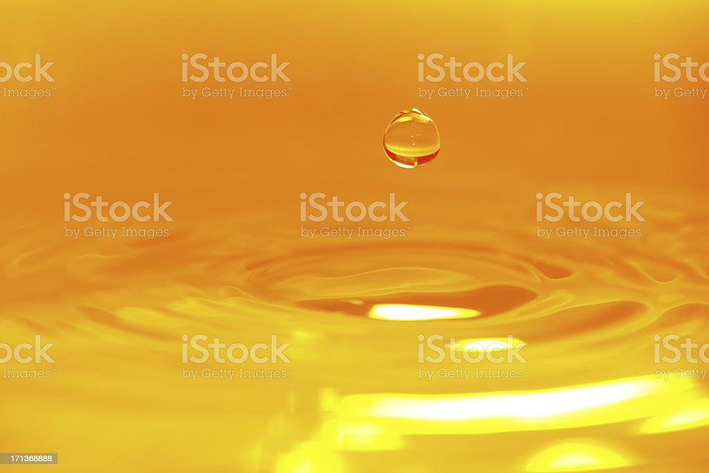 Golden Color Water Drop Background - XXXXXLarge stock photo