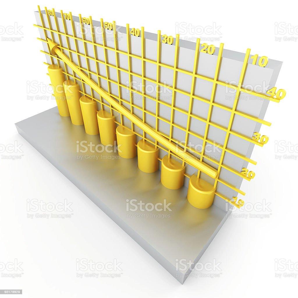 golden columns of diagram royalty-free stock photo