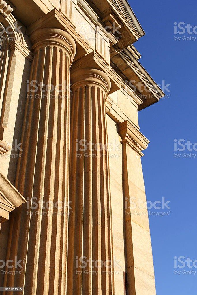 golden columns royalty-free stock photo