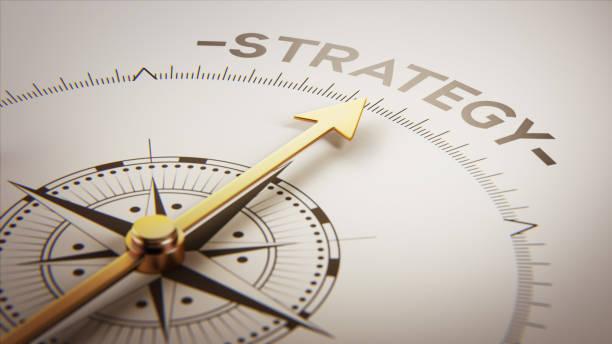 goldene kompass konzept - strategie stock-fotos und bilder